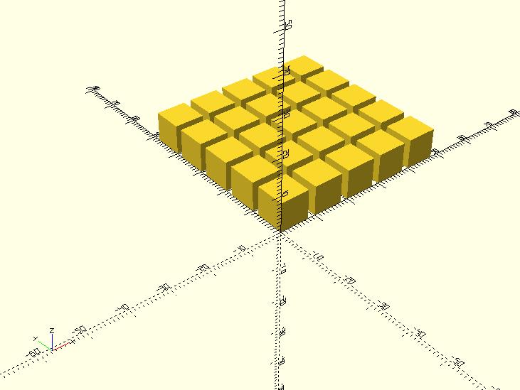 openscad_cubeMatrix1